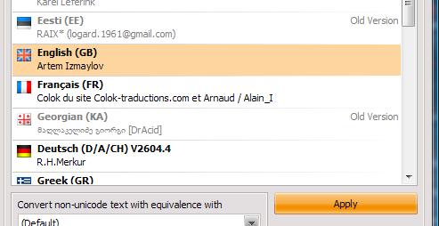 Memilih bahasa di AIMP