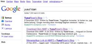 Hasil pencarian Google Indonesia