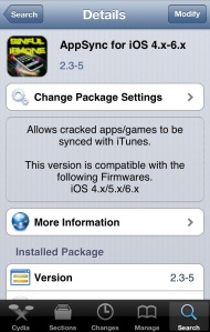 AppSync dari SinFul iPhone